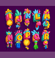 kids font vector image vector image