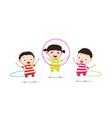 Kids PlayingHula Hoop vector image vector image