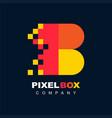 letter b pixel technology creative logo symbol vector image vector image