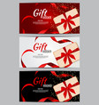 luxury members gift card template for a festive vector image