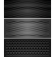 metallic perforated sheet vector image vector image