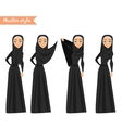 Muslim woman wears hijab vector image vector image