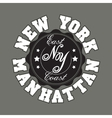 New York City Typography Graphics T-shirt vector image vector image