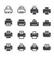print icon set vector image vector image
