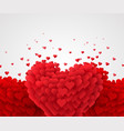 red valentine hearts on bright background love vector image vector image
