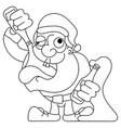 santa dancing and drinking cartoon - drunk claus vector image vector image