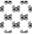 seamless pattern with a human skull and vector image