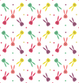 Seamless pattern with cute bunny vector image vector image