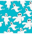 Seamless pattern with ghosts Print for Halloween vector image vector image