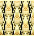 seamless pattern with gold and black ethnic motifs vector image vector image