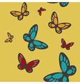 seamless with butterflies vector image