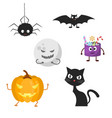 set of characters for halloween vector image vector image