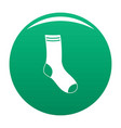 sock icon green vector image vector image