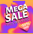 special weekend mega sale advertising web banner vector image