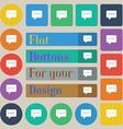 Speech bubbles icon sign Set of twenty colored vector image vector image