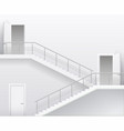 stairs and doors vector image vector image