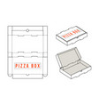 stock rectangular box for pizza slices vector image vector image