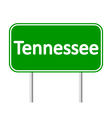 Tennessee green road sign vector image