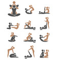 thai massage icon set vector image