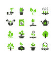 tree sprout and plants icons seedling and vector image