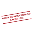 United States Of America Watermark Stamp vector image vector image