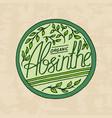vintage absinlabel badge strong alcohol logo vector image