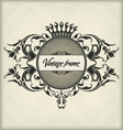 Vintage frame with crown vector image vector image