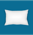 white rectangular pillow cushion vector image vector image
