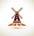 windmill symbol agriculture concept vector image vector image