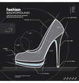 Woman shoe design vector image vector image