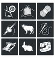 Wool knitting Icons Set vector image vector image
