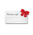 christmas gift card new year present certificate vector image