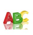 colorful transparent alphabet abc vector image
