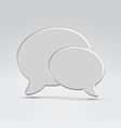Two communication balloon icon vector image