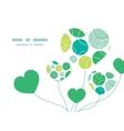 Abstract green circles heart symbol frame