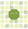 Abstract textile green rounded squares frame vector image vector image
