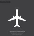 airplane premium icon vector image vector image