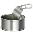 aluminum can with lid opened vector image