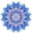 arabeska blue mono vector image vector image