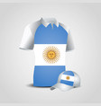 argentina flags shirt design vector image vector image