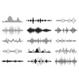 black sound waves music audio frequency voice vector image