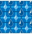 Blue seamless pattern with water drops vector image