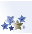 blue starfish isolated on gradient background vector image vector image