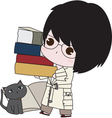 Boy With his Books vector image vector image