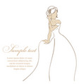 bride in white dress vector image vector image