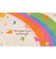 butterflies with rainbow vector image vector image
