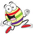 Cartoon Easter egg running vector image vector image