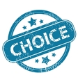 CHOICE round stamp vector image