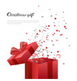 christmas gift box new year present template vector image vector image