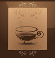 coffee mug in the frame vector image vector image